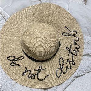 """""""Do Not Disturb"""" straw pool hat"""